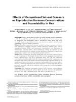 the effect of solvent exposure and