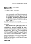 ELF magnetic field exposures in an office environment.