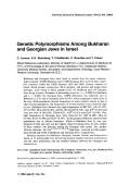 Genetic polymorphisms among Bukharan and Georgian Jews in Israel.