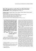 New perspectives on the face in fetal alcohol syndrome What anthropometry tells us.