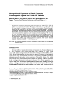 Occupational exposure of deck crews to carcinogenic agents on crude oil tankers.