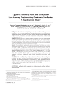 Upper extremity pain and computer use among engineering graduate students A replication study.