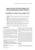 Upper extremity pain and computer use among engineering graduate students.