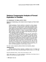 Variance components analysis of forced expiration in families.
