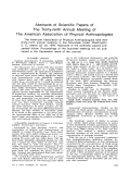 Abstracts of scientific papers of the thirty-ninth annual meeting of the American Association of Physical Anthropologists.