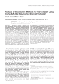 Analysis of quantitative methods for rib seriation using the Spitalfields documented skeletal collection.