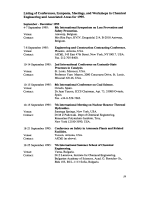 Listing of Conferences  Symposia  Meetings  and Workshops in Chemical Engineering and Associated Areas for 1995.