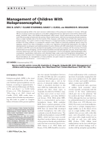 Management of children with holoprosencephaly.