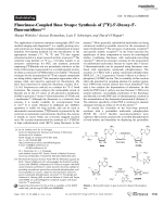Fluorinase-Coupled Base Swaps  Synthesis of [18F]-5-Deoxy-5-fluorouridines.