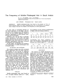 The frequency of middle phalangeal hair in Saudi Arabia.