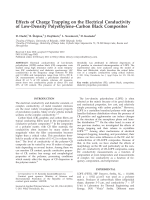 Effects of charge trapping on the electrical conductivity of low-density PolyethyleneЦCarbon black composites.