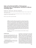 Study on the thermal stability of heterogeneous nucleation effect of polypropylene nucleated by different nucleating agents.