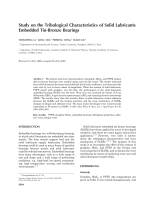 Study on the tribological characteristics of solid lubricants embedded tin-bronze bearings.