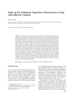 Study on the volumetric expansion of benzoxazine curing with different catalysts.