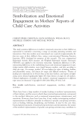 Symbolization and emotional engagement in mothers' reports of child care activities.