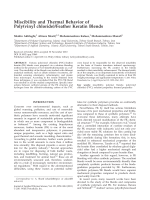 Miscibility and thermal behavior of poly(vinyl chloride)feather keratin blends.