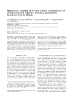 Mechanical  thermal  and water uptake characteristics of woodflour-filled polyvinyl chlorideacrylonitrile butadiene styrene blends.