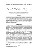 Polymer miscibility in organic solvents and in plasticizersЧa two-dimensional approach.