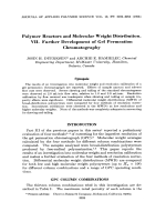 Polymer reactors and molecular weight distribution. VII. Further development of gel permeation chromatography