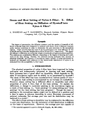 Steam and heat setting of nylon 6 fiber. X. Effect of heat setting on diffusion of dyestuff into nylon 6 fiber