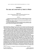 The status and conservation of sharks in Britain.
