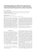 Unlubricated rolling and sliding wear against steel of carbon-black-reinforced and in situ cured polyurethane containing ethylenepropylenediene rubber compounds.