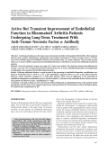 Active but transient improvement of endothelial function in rheumatoid arthritis patients undergoing long-term treatment with antitumor necrosis factor ╨Ю┬▒ antibody.
