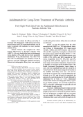 Adalimumab for long-term treatment of psoriatic arthritisForty-eight week data from the adalimumab effectiveness in psoriatic arthritis trial.