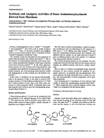 Aminocyclanols ISynthesis and Analgetic Activities of Some Aminobenzylcyclanols Derived from Menthone. Aminocyclanole 1. Mitt.Synthese und analgetische Wirkung einiger vom Menthon abgeleiteter Aminobenzylcyclanole