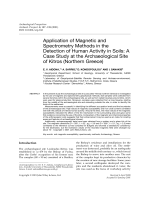 Application of magnetic and spectrometry methods in the detection of human activity in soilsa case study at the archaeological site of Kitros Northern Greece.