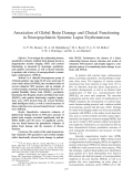 Association of global brain damage and clinical functioning in neuropsychiatric systemic lupus erythematosus.