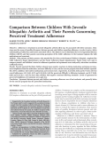 Comparison between children with juvenile idiopathic arthritis and their parents concerning perceived treatment adherence.