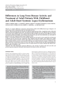 Differences in long-term disease activity and treatment of adult patients with childhood- and adult-onset systemic lupus erythematosus.
