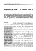 Increasing active student participation in histology.