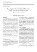 New regulatory rules for clinical trials in the United States and the European UnionKey points and comparisons.