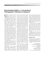 Reevaluating digital vs. conventional photographic cameras for research