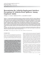 Reexamining the arthritis-employment interfacePerceptions of arthritis-work spillover among employed adults.