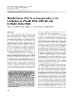 Rehabilitation effects on compensatory gait mechanics in people with arthritis and strength impairment.