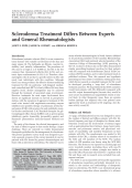 Scleroderma treatment differs between experts and general rheumatologists.