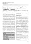 Tender point assessment in juvenile primary fibromyalgia syndrome.