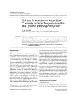Soil and susceptibilityaspects of thermally induced magnetism within the dynamic pedological system.