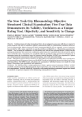 The New York City Rheumatology Objective Structured Clinical ExaminationFive-year data demonstrates its validity usefulness as a unique rating tool objectivity and sensitivity to change.