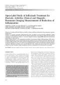 Open-label study of infliximab treatment for psoriatic arthritisClinical and magnetic resonance imaging measurements of reduction of inflammation.