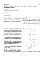 Synthesis of Novel Benzylimidazolines Possessing Antihypertensive and Sedative Activity.