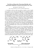 The effect of diazoxide potassium chloride and ammonium chloride on serum and urinary uric acid.