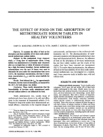 The effect of food on the absorption of methotrexate sodium tablets in healthy volunteers.