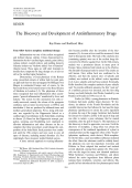 The discovery and development of antiinflammatory drugs.