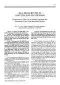 HLADR4 subtypes in new zealand polynesians. predominance of dw13 in the healthy population and association of dw15 with rheumatoid arthritis