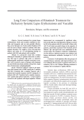 Long-term comparison of rituximab treatment for refractory systemic lupus erythematosus and vasculitisRemission relapse and re-treatment.