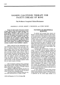 Salmon calcitonin therapy for paget's disease of bone the problem of acquired clinical resistance.